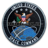 Нашивка United States Space Command эмблема круглая